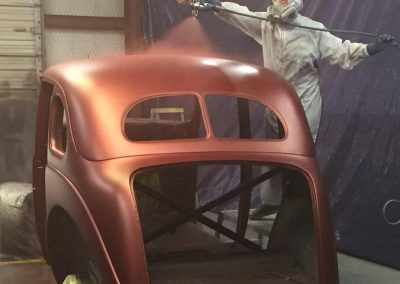 "Jenn Painting 37 Ford Sedan ""The Dr. Pepper Car"""