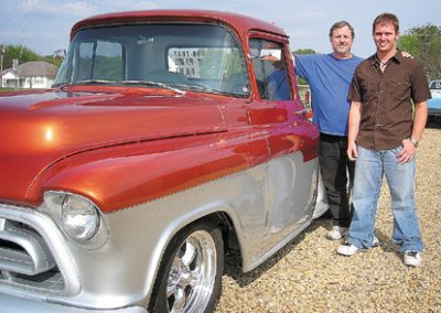 Jack and Jon with Jon's completed 1957 Chevy Pickup 2006