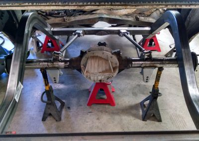 1967 Chevy Chevelle Backhalf with Triangulated 4 Link,